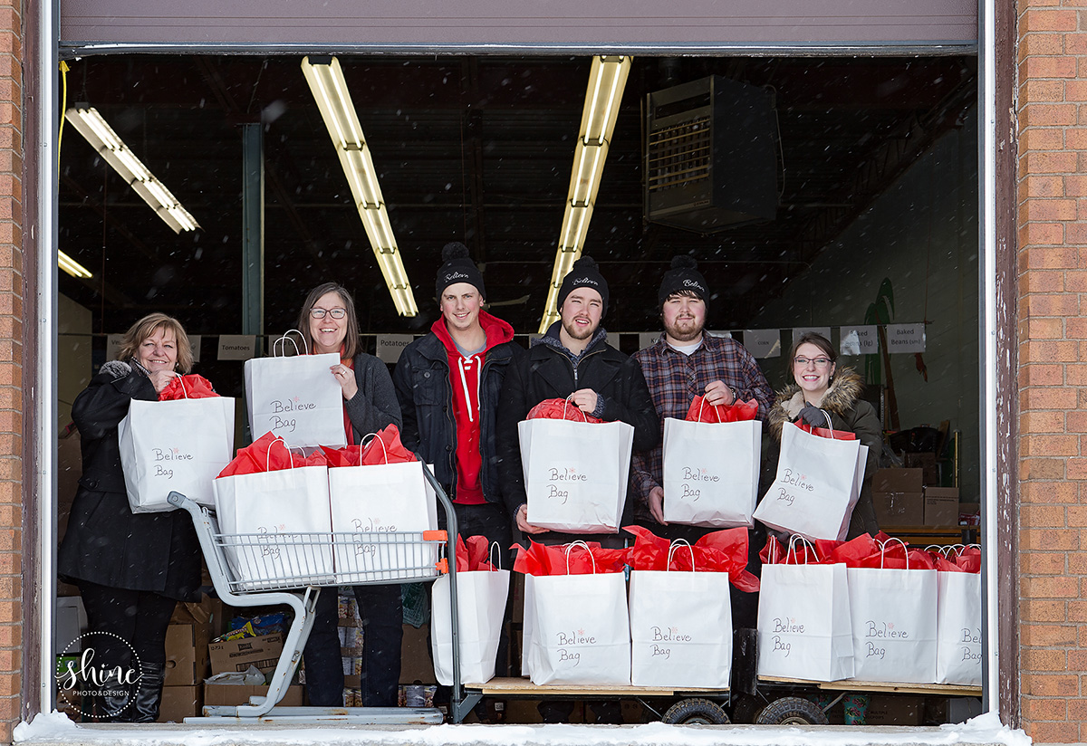 Believe Bags 2016 Christmas delivery to the Orangeville Food Bank