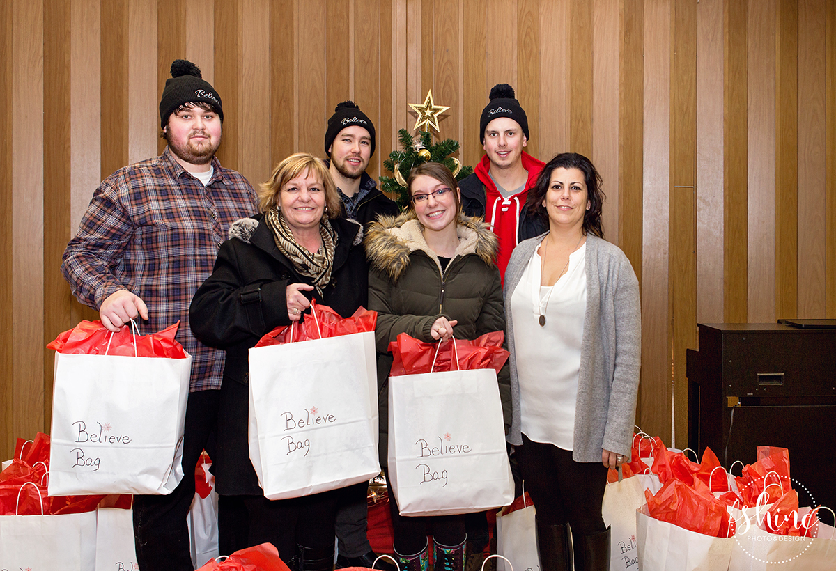 Believe Bags 2016 Christmas delivery to Westminster United Church - Dufferin Community Dinner.