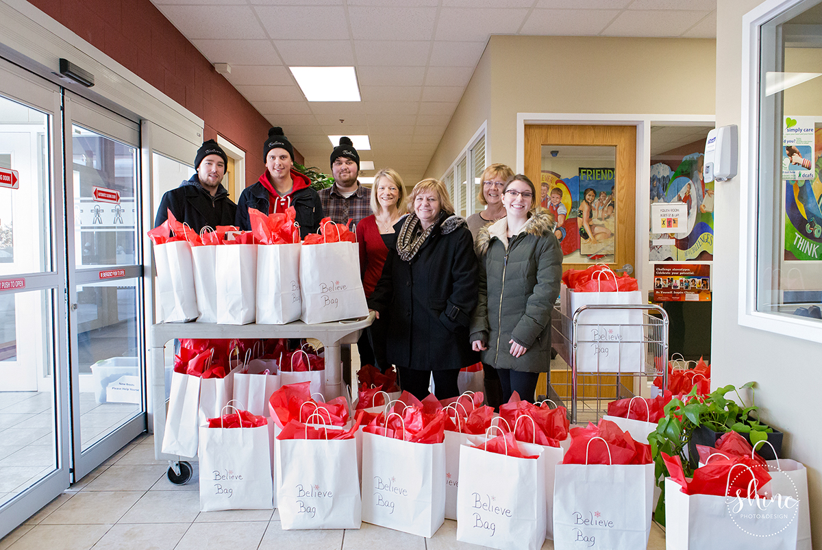 Believe Bags Christmas 2016 delivery to Dufferin Child & Family Services